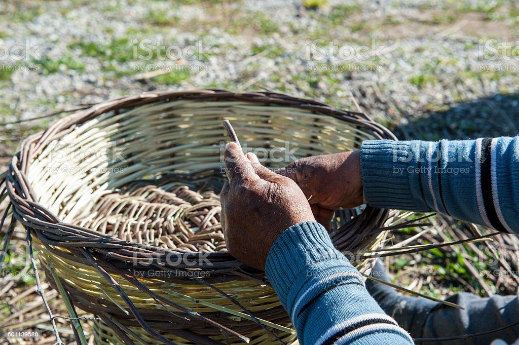 Basket maker stock photo