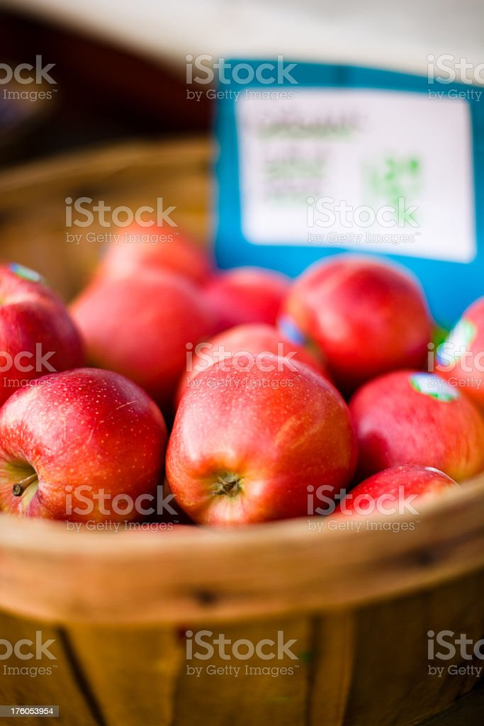 Basket of Apples for Sale royalty-free stock photo