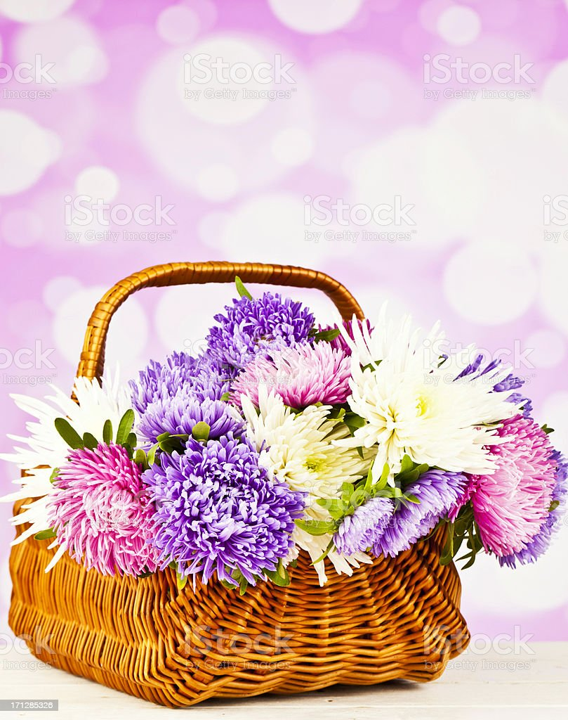 Basket Of Beautiful Spring Flowers Stock Photo More Pictures Of
