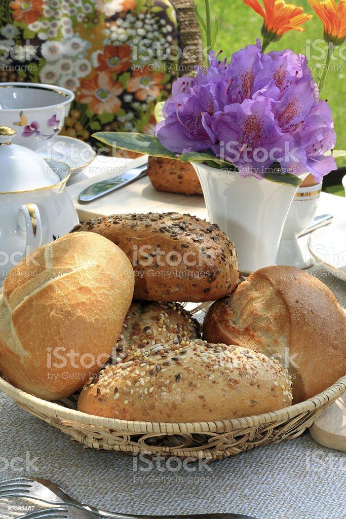 Basket of buns. royalty-free stock photo