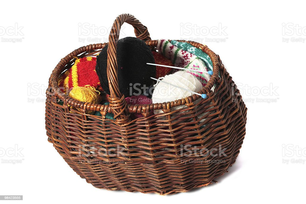Basket of clews royalty-free stock photo