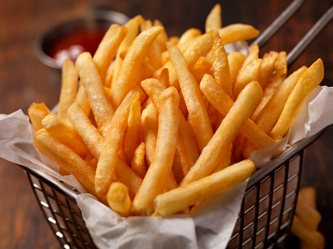 Basket of Famous Fast Food French Fries