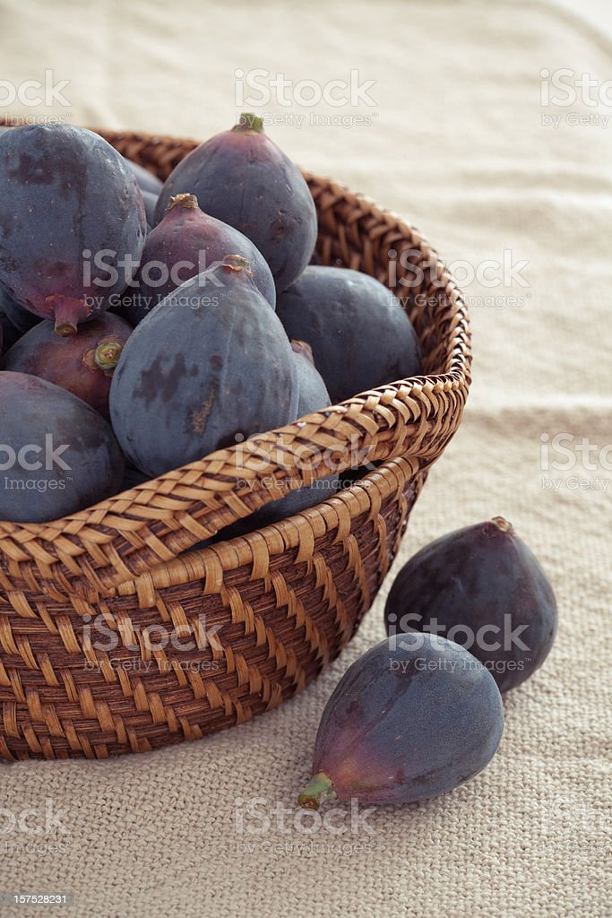 Basket of Figs stock photo