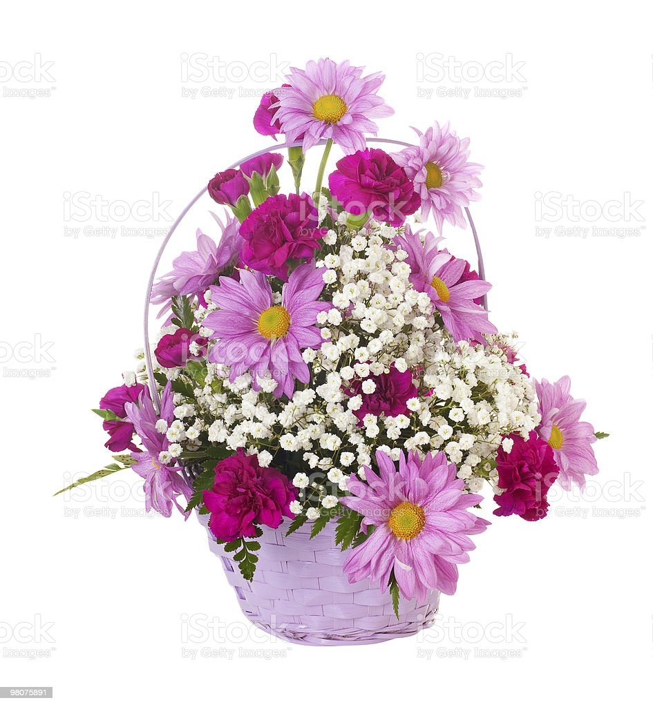 Basket of Flowers royalty-free stock photo