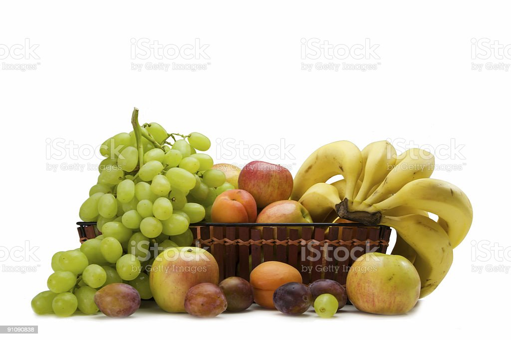 Basket of fruits royalty-free stock photo