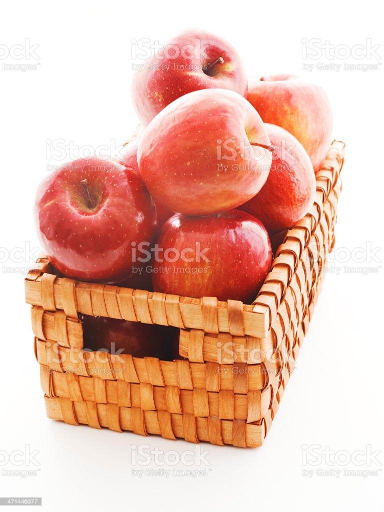 basket of fujis stock photo