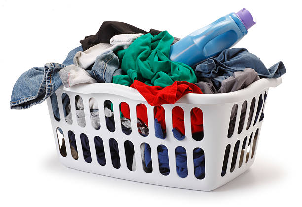 Basket of Laundry Basket of Laundry.For more chore related images click on link below: laundry basket stock pictures, royalty-free photos & images