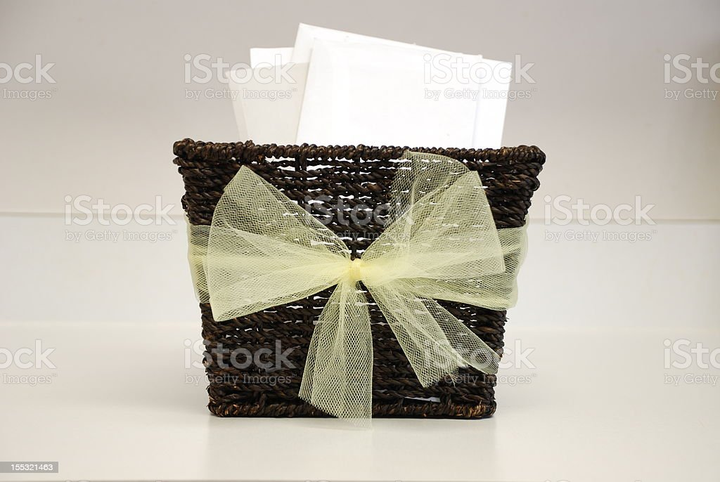 Basket of Letters royalty-free stock photo