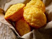 Basket of Mini Corn Muffins