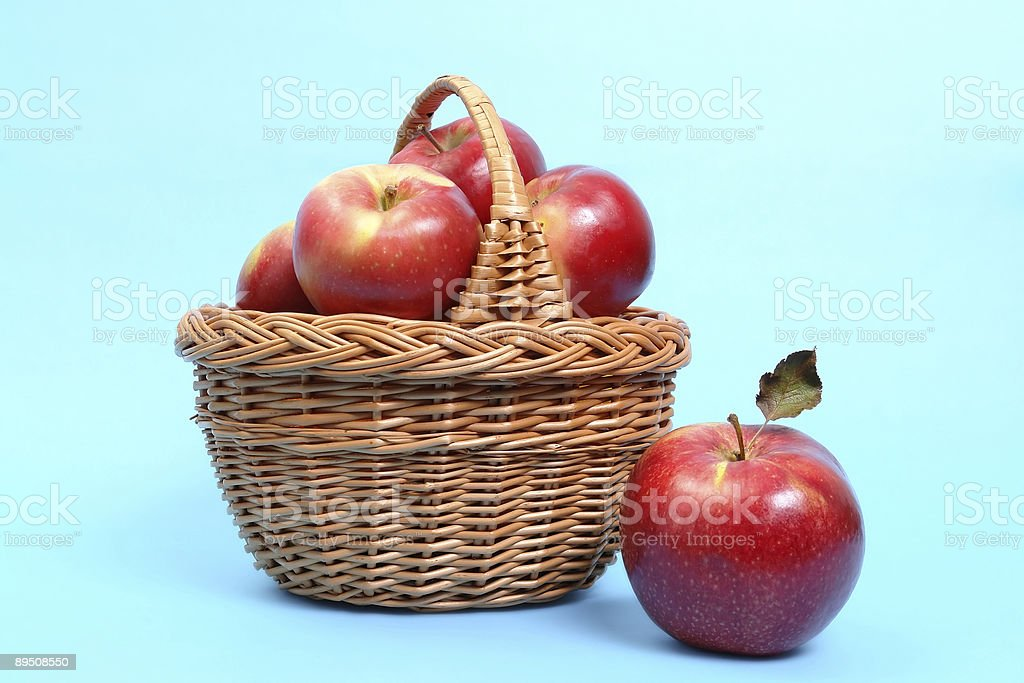 Basket of red apples royalty-free stock photo