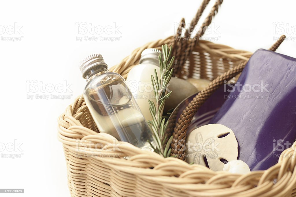 basket of spa products royalty-free stock photo