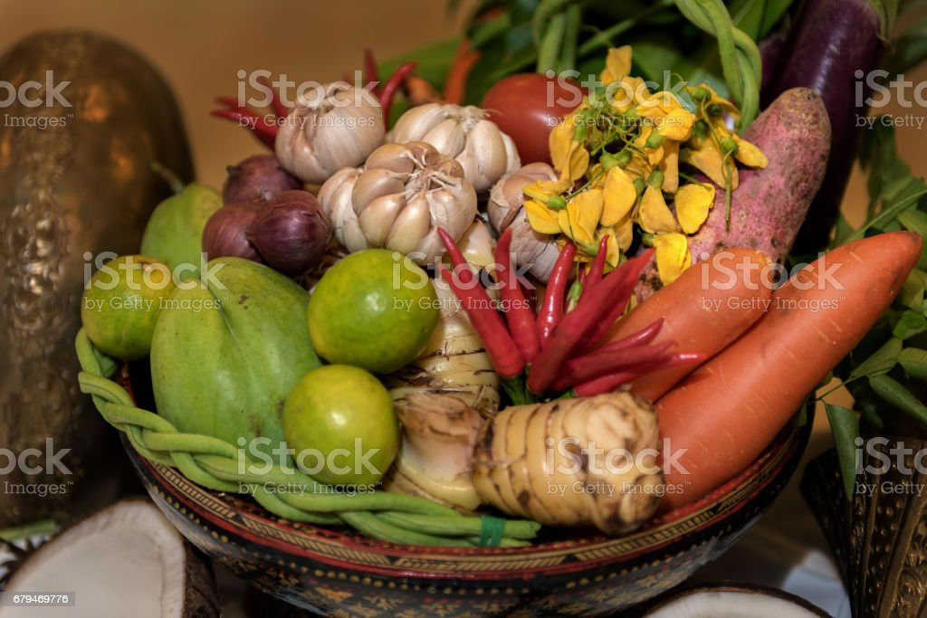 Basket of Vegetable royalty-free stock photo