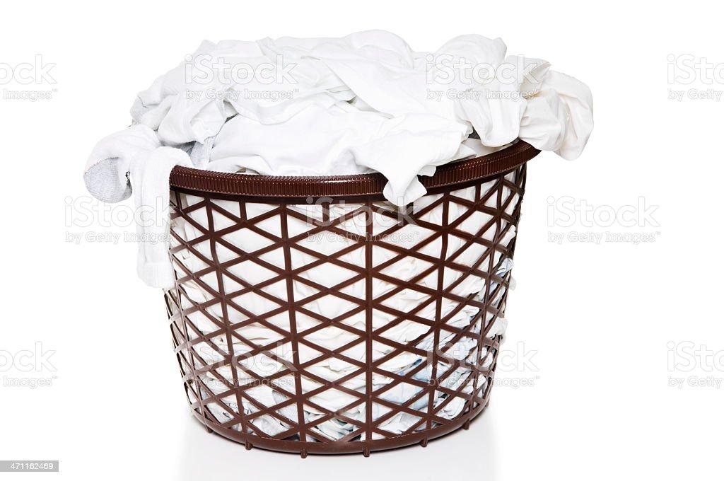 Basket of White Laundry royalty-free stock photo