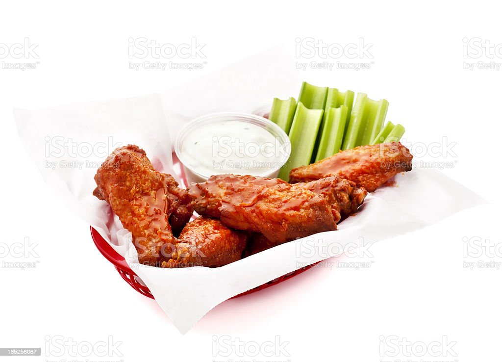 Basket of Wings stock photo