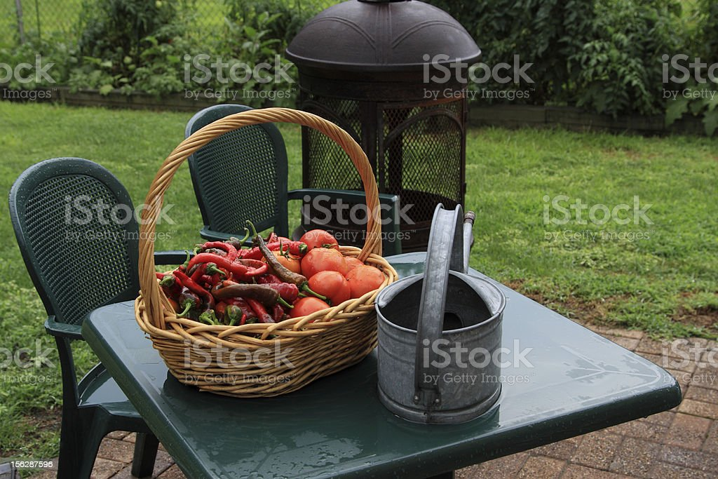 basket on table royalty-free stock photo