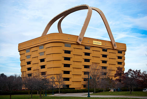 Basket Shaped Longaberger Company Home Office stock photo