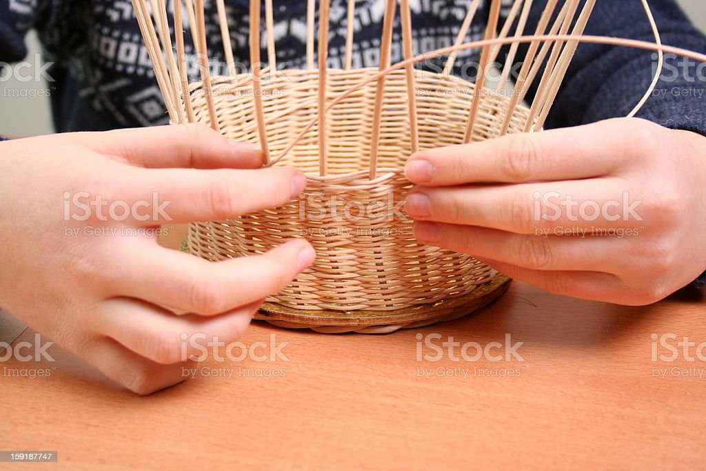 Basket waeving stock photo