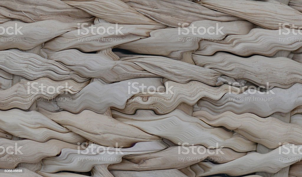 Basket Weave Abstract Background, Warm Earthtone Colors stock photo
