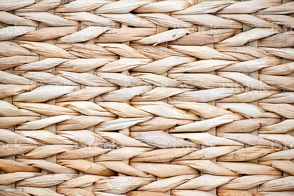 Basket Weaving Reed and Cane Pattern Background stock photo