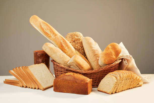 Basket with assorted baking products - foto stock