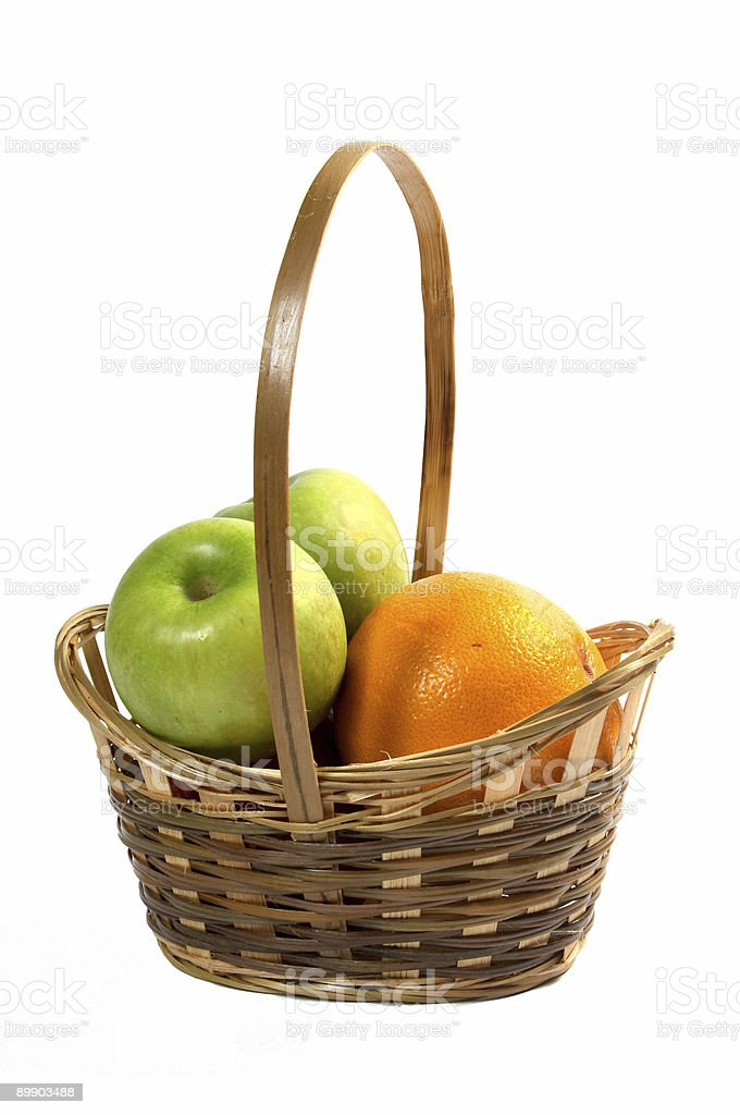 Basket with fruit. royalty-free stock photo
