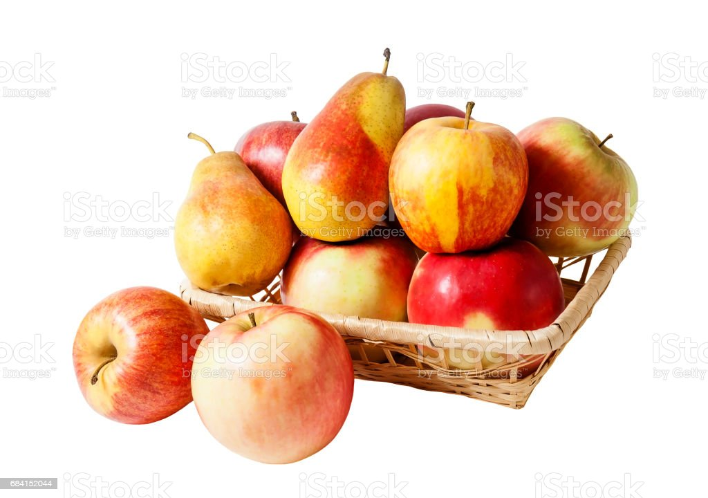 Basket with fruits isolated foto stock royalty-free