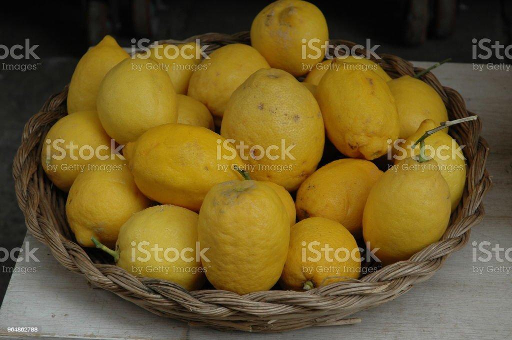 Basket with Lemons royalty-free stock photo