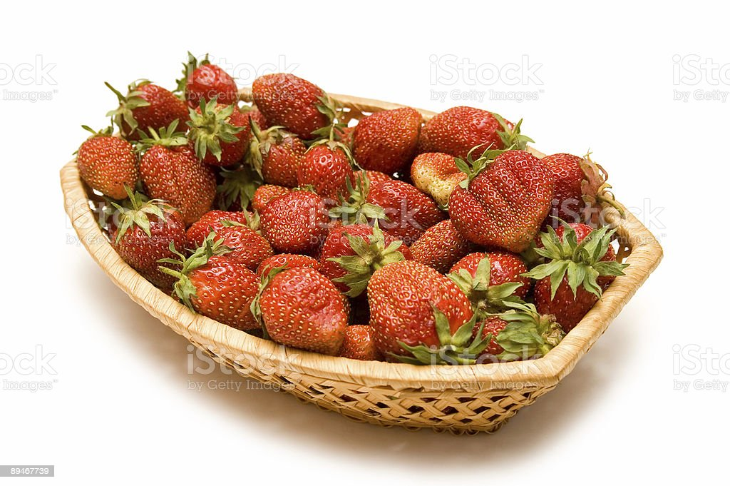 Basket With Strawberries royalty-free stock photo
