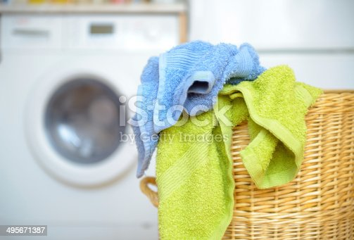 istock Basket with towels 495671387