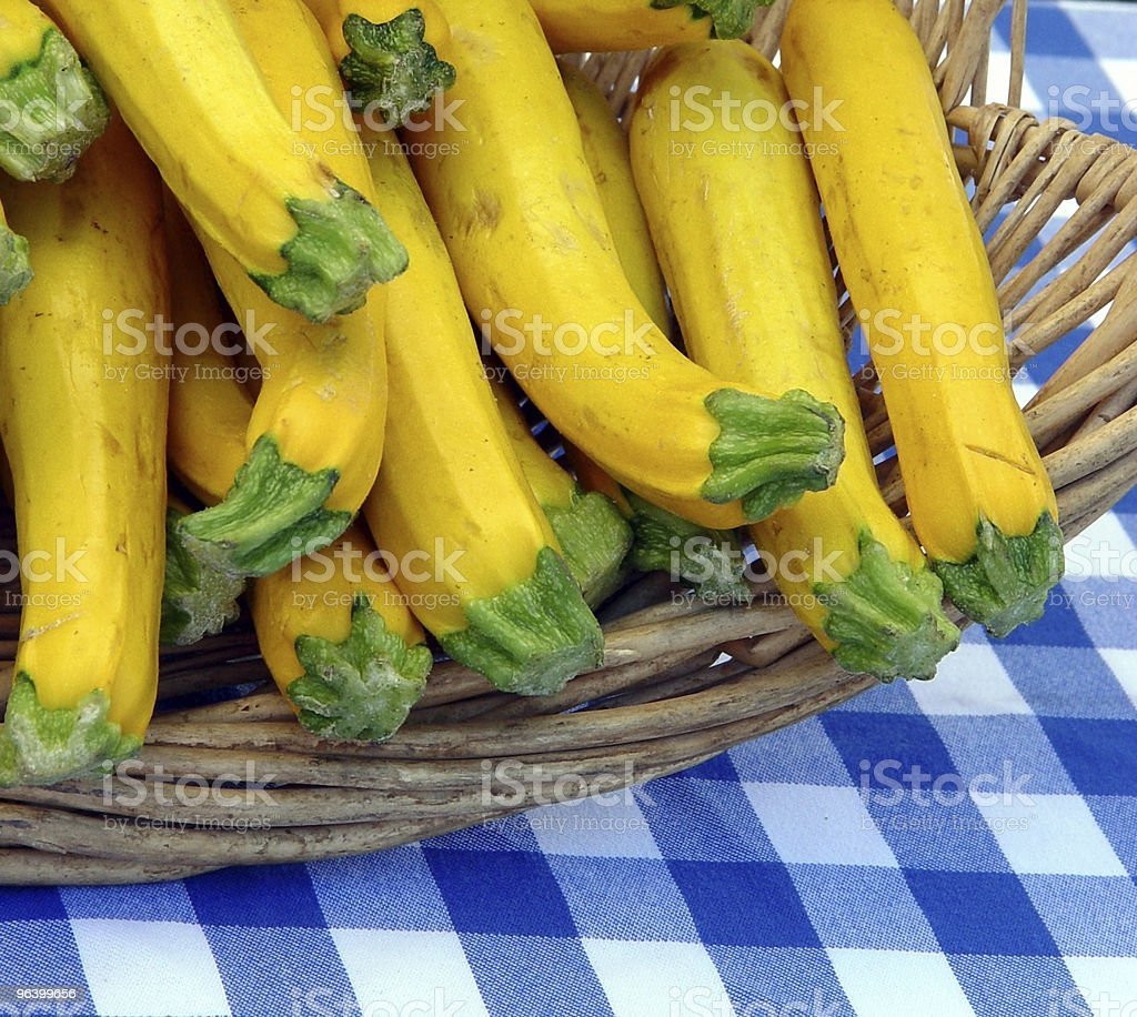 Basket with zucchini royalty-free stock photo