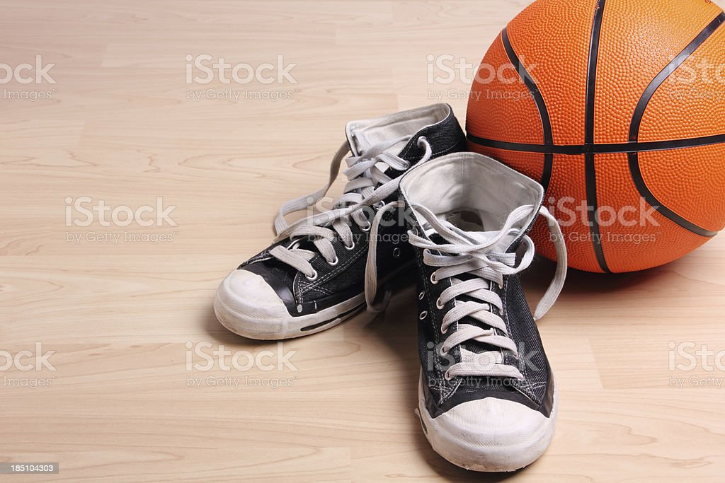 Basketball And Snearkers royalty-free stock photo