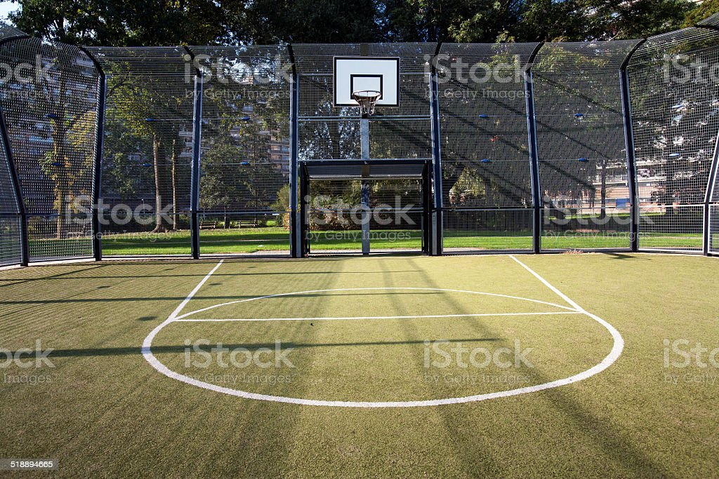 Basketball and soccer cage​​​ foto