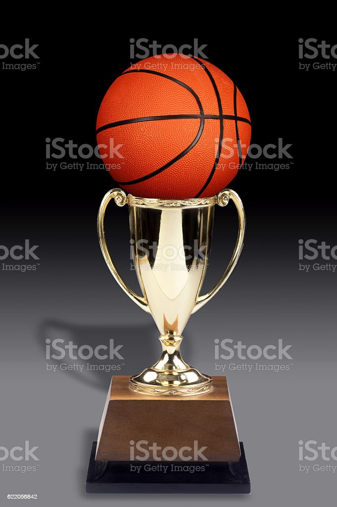 Basketball and Trophy. stock photo