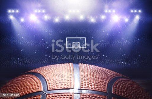 istock Basketball arena 3d 587195142