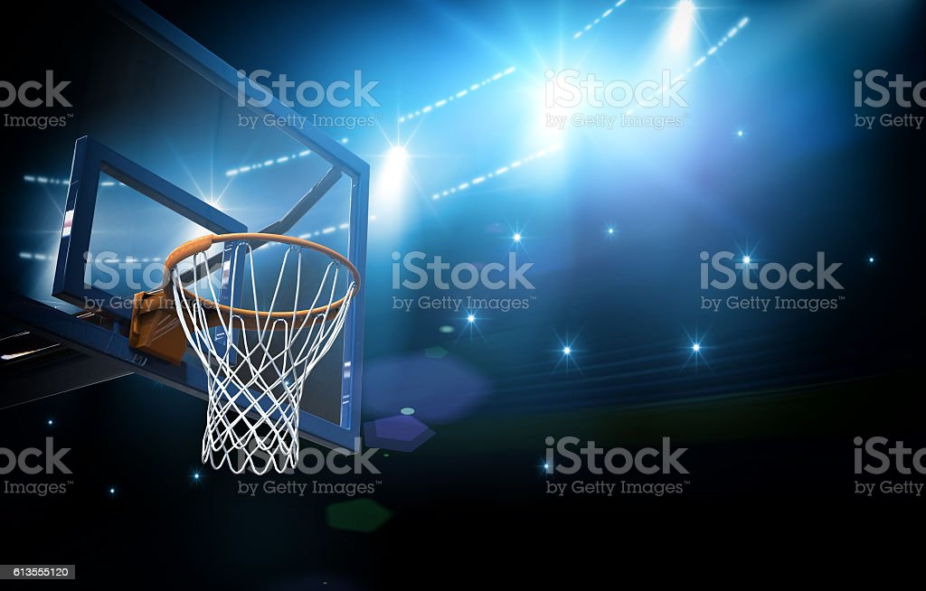 Basketball arena 3d royalty-free stock photo