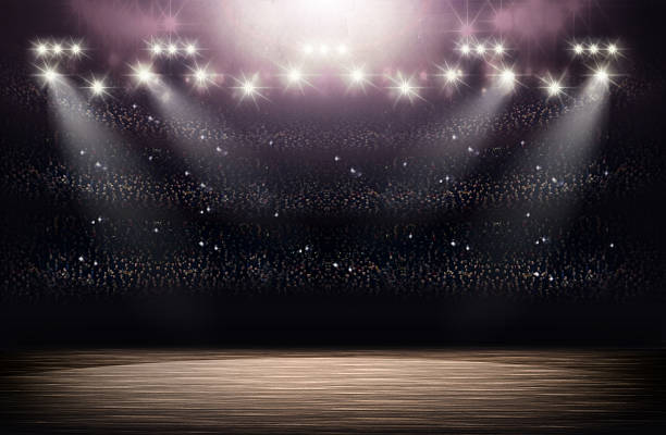 basketball arena background - speelveld stockfoto's en -beelden