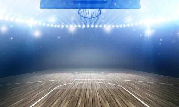 basketbal arena - basketbal teamsport stockfoto's en -beelden