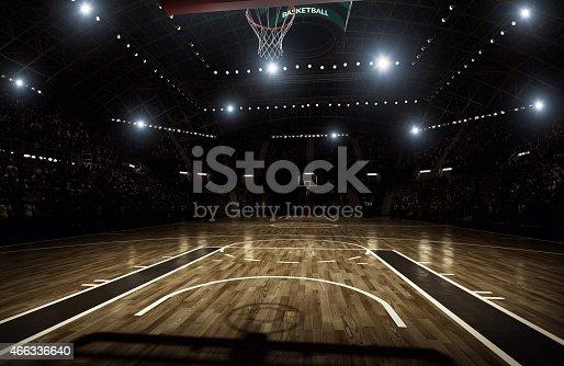 istock Basketball arena 466336640