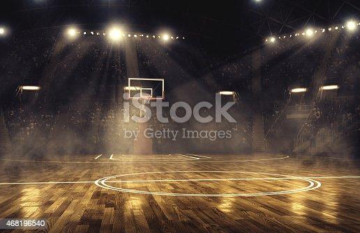 istock Basketball arena 468196540