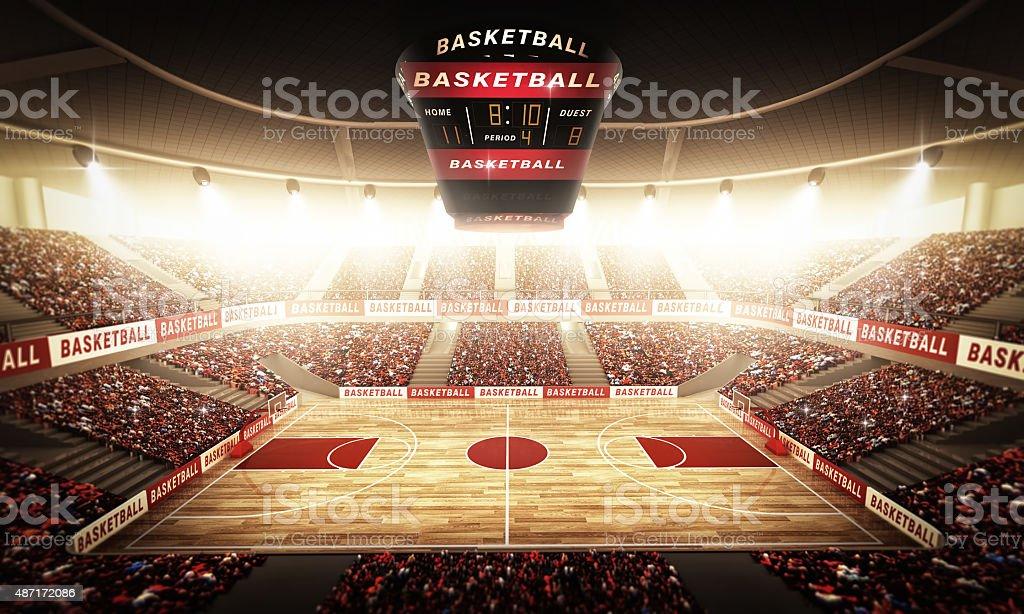 Basketball arena stock photo