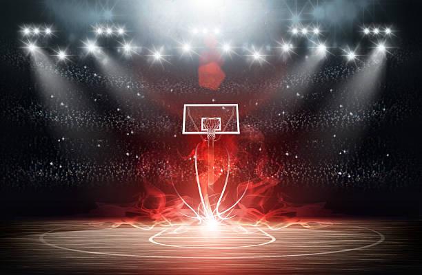 バスケットボールアリーナ ストックフォト