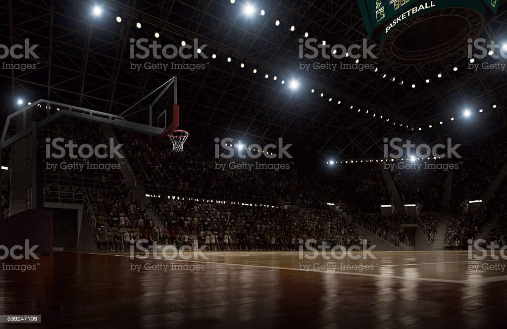 Basketball arena stock photo