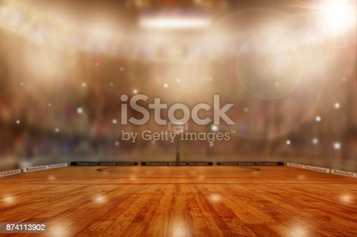 istock Basketball Arena With Copy Space 874113902