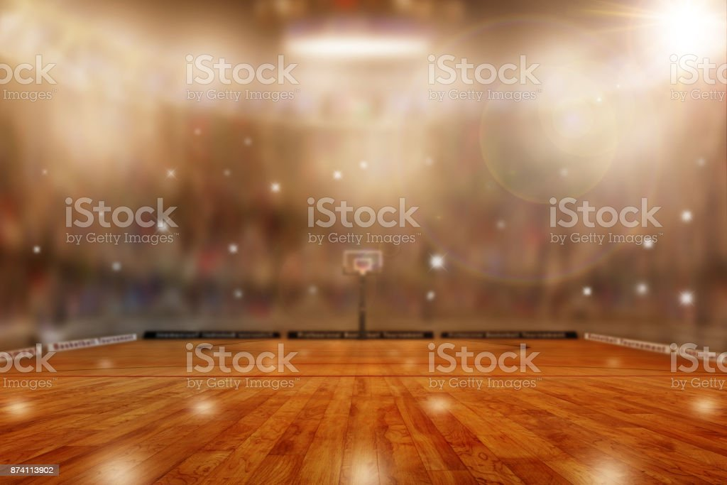 Basketball Arena With Copy Space stock photo