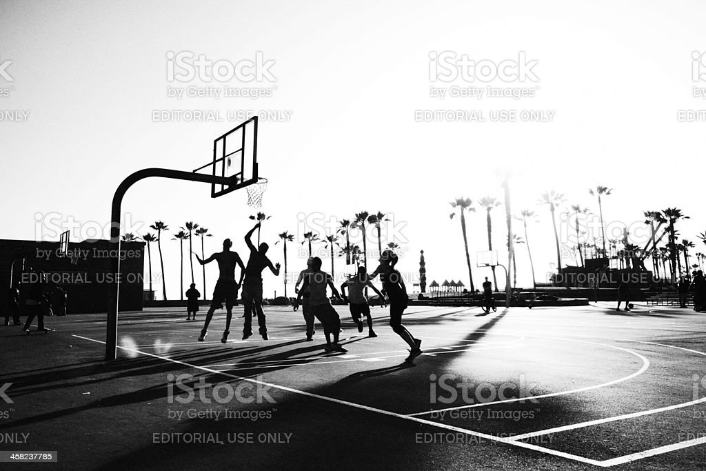 Basketball at Venice Beach stock photo