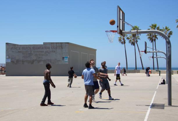 Basketball at Venice Beach stock photo