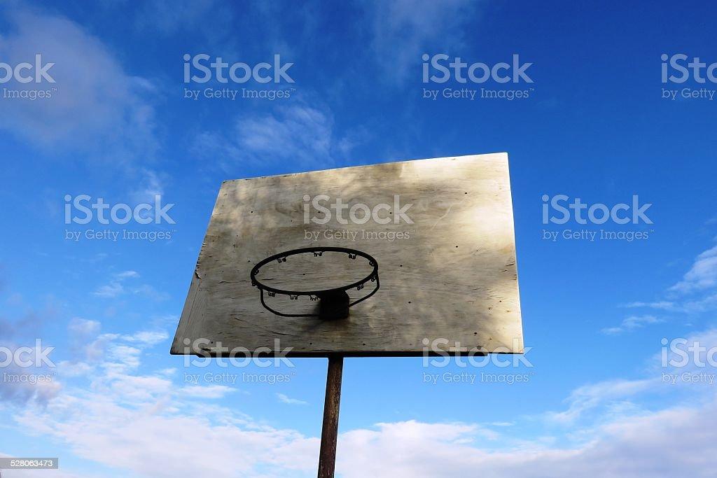 Basketball back board texture stock photo