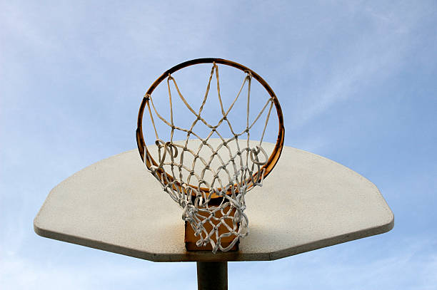 Basketball Backboard and Hoop stock photo