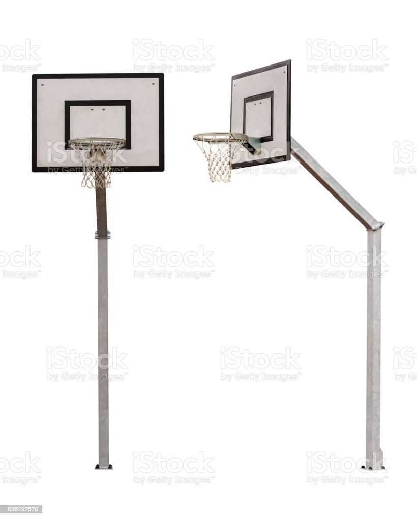 basketball backboard isolated on white background royalty-free stock photo