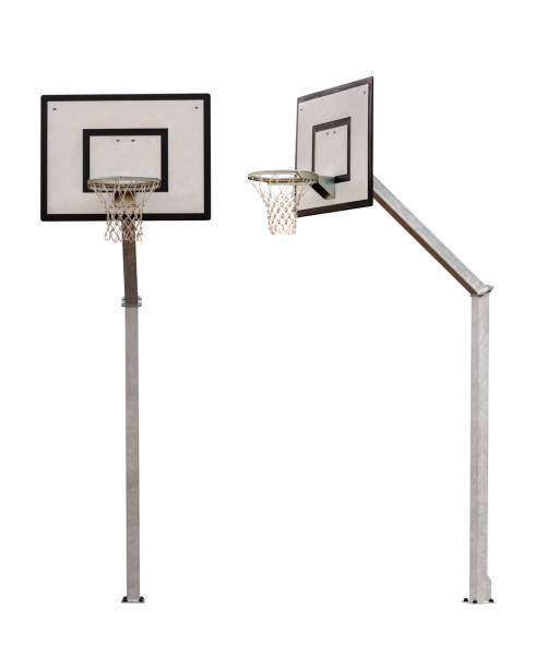 basketball backboard isolated on white background - basketball hoop stock pictures, royalty-free photos & images